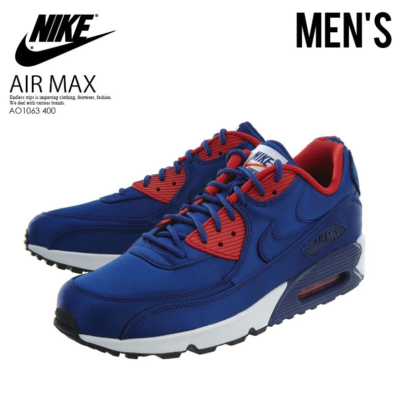 NIKE (Nike) AIR MAX 90 SE (Air Max) sneakers men sneakers DEEP ROYAL BLUE (royal  blue) AO1063 400 ENDLESS TRIP ENDLESSTRIP end rest lip 6faa80f65682