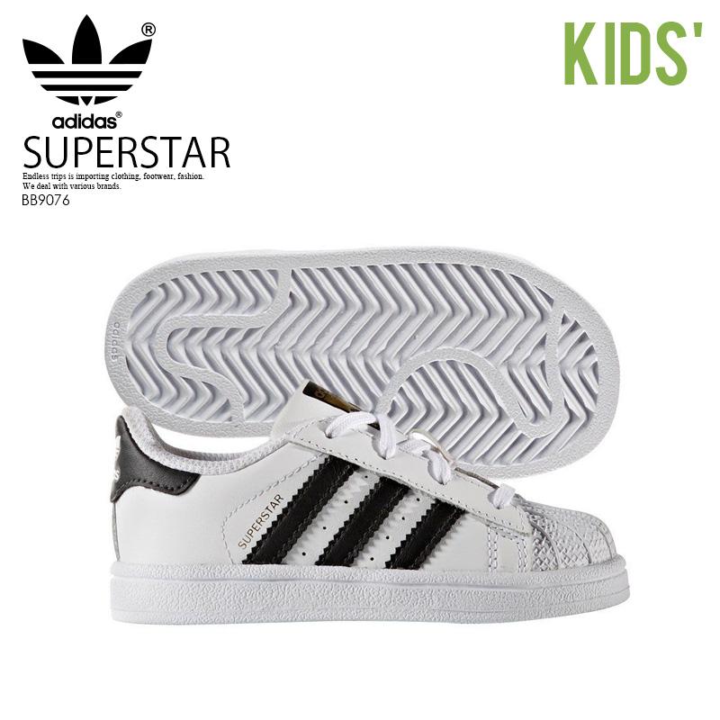 b5a709e6 adidas (Adidas) SUPERSTAR I (superstar) kids infant sneakers  FTWWHT/CBLACK/FTWWHT (white / black) BB9076 (C77913 design) ENDLESS TRIP  ENDLESSTRIP end ...