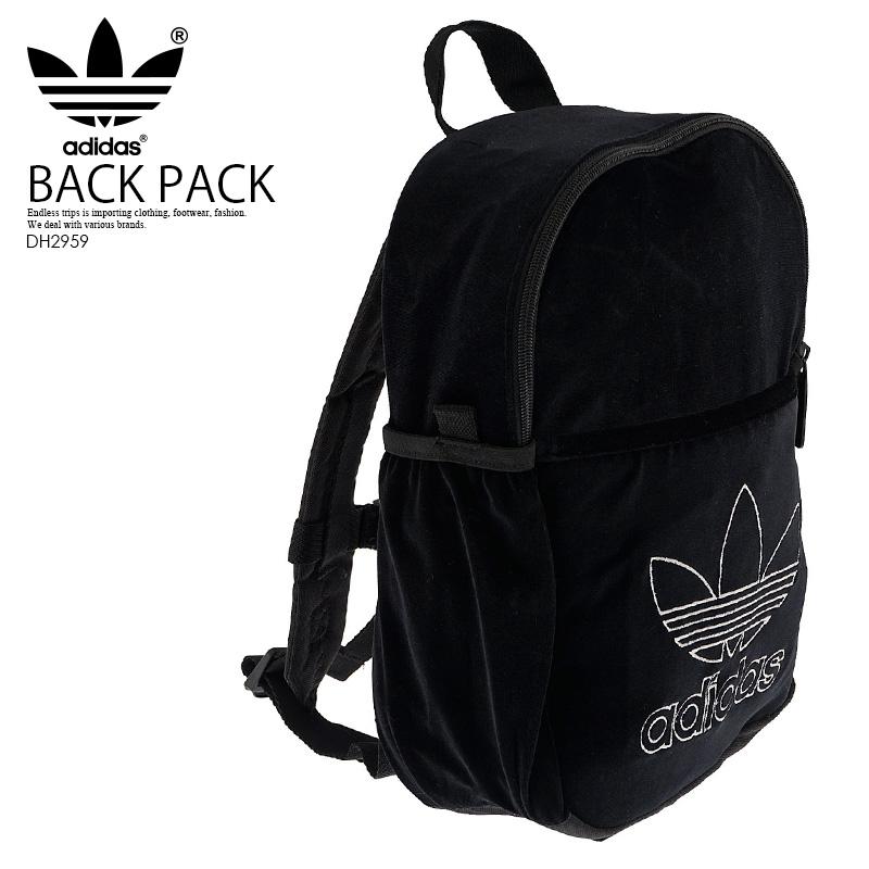 Rakuten supermarket SALE! adidas (Adidas) BACKPACK INF FASHION (backpack  fashion) rucksack D bag velvet BLACK (black) DH2959