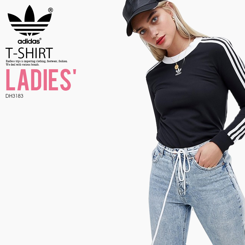 Sew AdidasadidasWomens Ls3 Long T Stripes ShirtSleeves Cut 3 Ron Lady's Tee3stripes Sleeve Reeve Longus Women And Tops Black Stripe WHEI29YD
