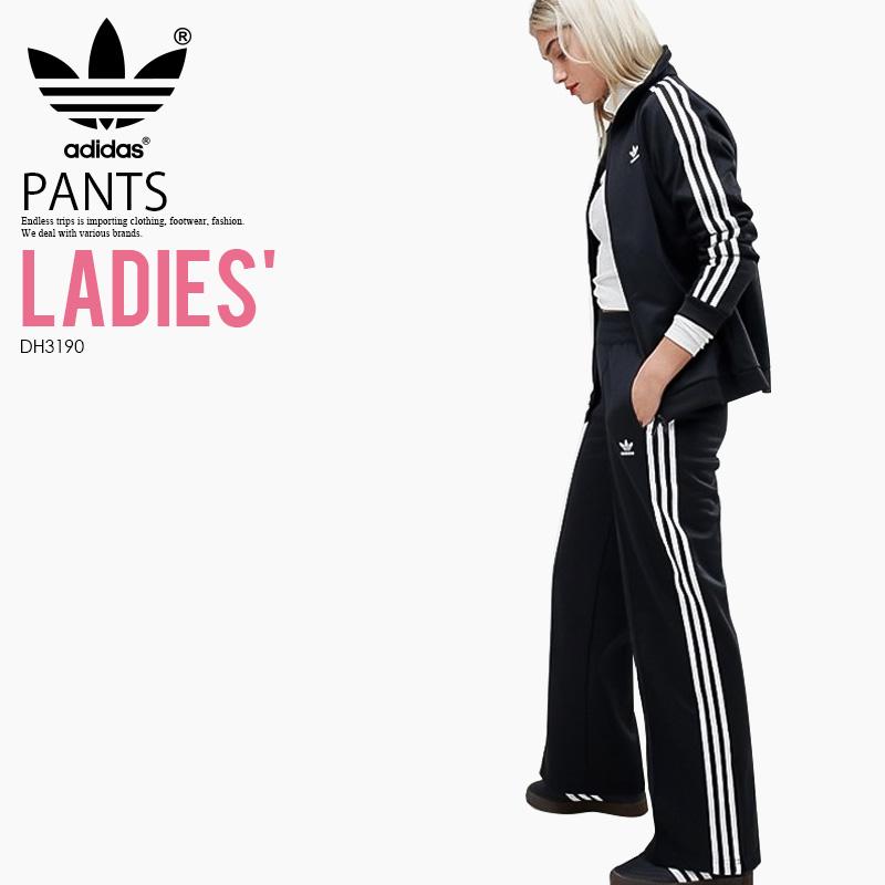【大人気! 希少! レディース】 adidas (アディダス) WOMENS CONTEMP BB TRACK PANTS (COMTEMP BB TP) (コンテンプ BB トラック パンツ) トレフォイル ウィメンズ ボトムス BLACK (ブラック) DH3190 アスレジャー スポーツミックス ENDLESS TRIP ENDLESSTRIP