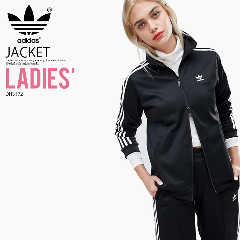 【大人気! 入手困難! レディース モデル】 adidas (アディダス) WOMENS CONTEMP BB TRACK TOP (COMTEMP BB TT) (コンテンプ トラック トップ) 長袖 ジャージ ジャケット トップス ジップアップ レディース ウィメンズ BLACK (ブラック) DH3192 ENDLESS TRIP