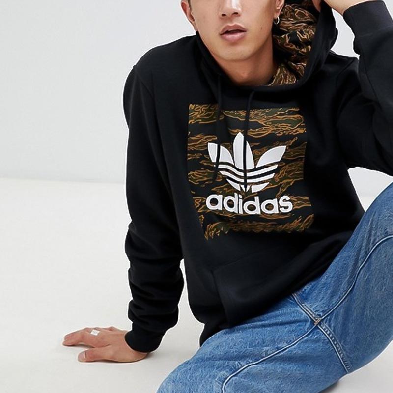 30adfa34b ... adidas (Adidas) CAMOUFLAGE BLACKBIRD HOODIE (カモフラージュブラックバードフーディー) parka  pullover men ...
