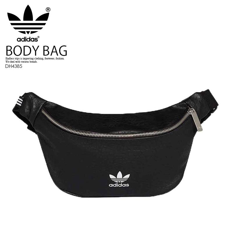 【希少! 入手困難!】 adidas (アディダス) FUNNY PACK M (ファニー パック) メンズ レディース ユニセックス ボディバッグ ウエストバッグ バッグ BLACK (ブラック) DH4385 エンドレストリップ