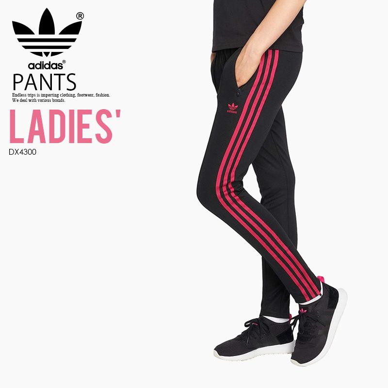【日本未入荷! 海外限定! レディース】 adidas (アディダス) LEOFLAGE SUPERSTAR TRACK PANTS (スーパースター トラックパンツ) ボトムズ パンツ ウィメンズ BLACK (ブラック) DX4300 アスレジャー スポーツミックス