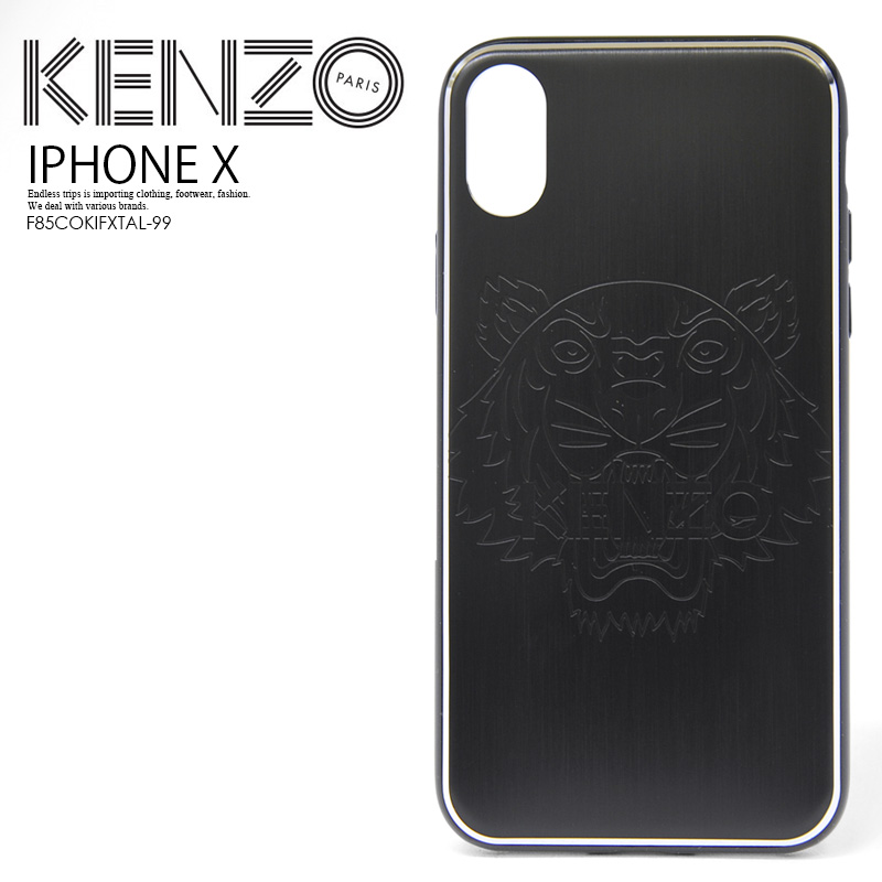 f1d96c08 KENZO (Kenzo) TIGER IPHONE X CASE (tiger iphoneX case) iphone case Tigers  Maho case eyephone X iPhoneX BLACK (black) F85COKIFXTAL-99 ENDLESS TRIP ...