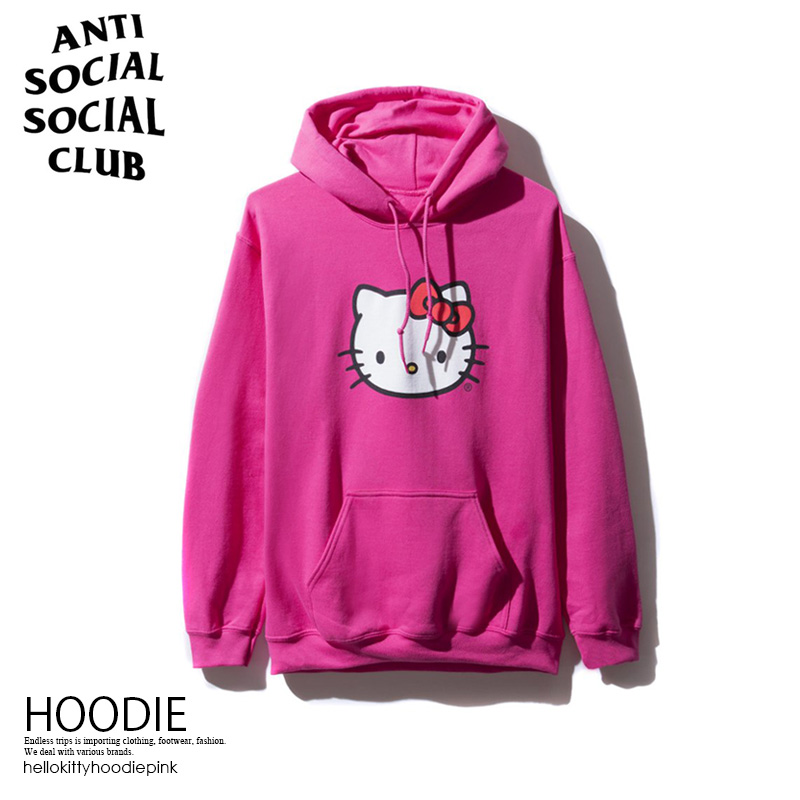 86e90977c040 ANTI SOCIAL SOCIAL CLUB (antisocial social club) ASSC X HELLO KITTY HOODIE  ハローキティフーディコラボトップスメンズレディースパーカー PINK (pink) ...