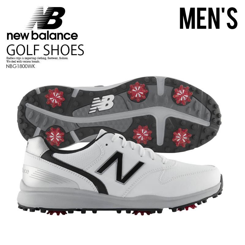 【日本未入荷!希少!メンズ ゴルフシューズ】 NEW BALANCE (ニューバランス) SWEEPER (スイーパー) MENS ゴルフ スパイク WHITE/BLACK (ホワイト/ブラック) NBG1800WK ENDLESS TRIP ENDLESSTRIP エンドレストリップ