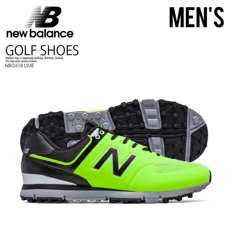best website defcd 4ff27 NEW BALANCE (New Balance) NBG518 GOLF SHOES MENS golf shoes spikesless golf  LIME (lime) NBG518 LIME ENDLESS TRIP