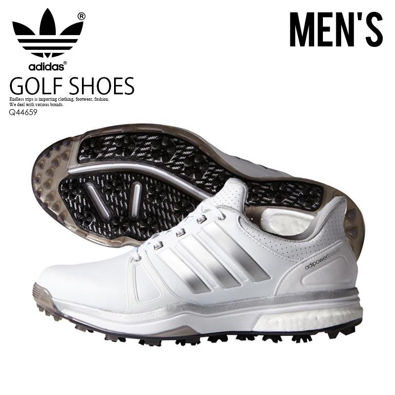 【日本未入荷!希少!メンズ ゴルフシューズ】 adidas (アディダス) ADIPOWER BOOST 2 (アディパワー ブースト) MENS GOLF SHOES スパイクレス ゴルフ FTWWHT/SILVMT/CBLACK (ホワイト/シルバー/ブラック) Q44659 ENDLESS TRIP ENDLESSTRIP エンドレストリップ
