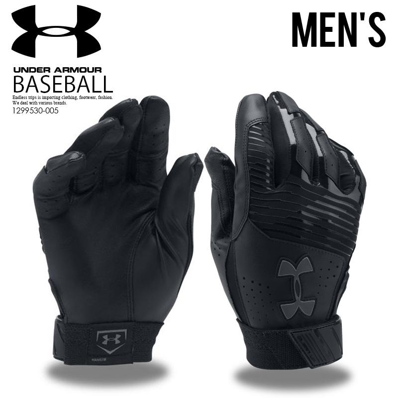 goedkoop kopen online bestellen nieuwe aankomst UNDER ARMOUR (under Armour) UA CLEAN UP BATTING GLOVES (clean up batting)  baseball glove gloves pair BLACK (black) 1,299,530-005