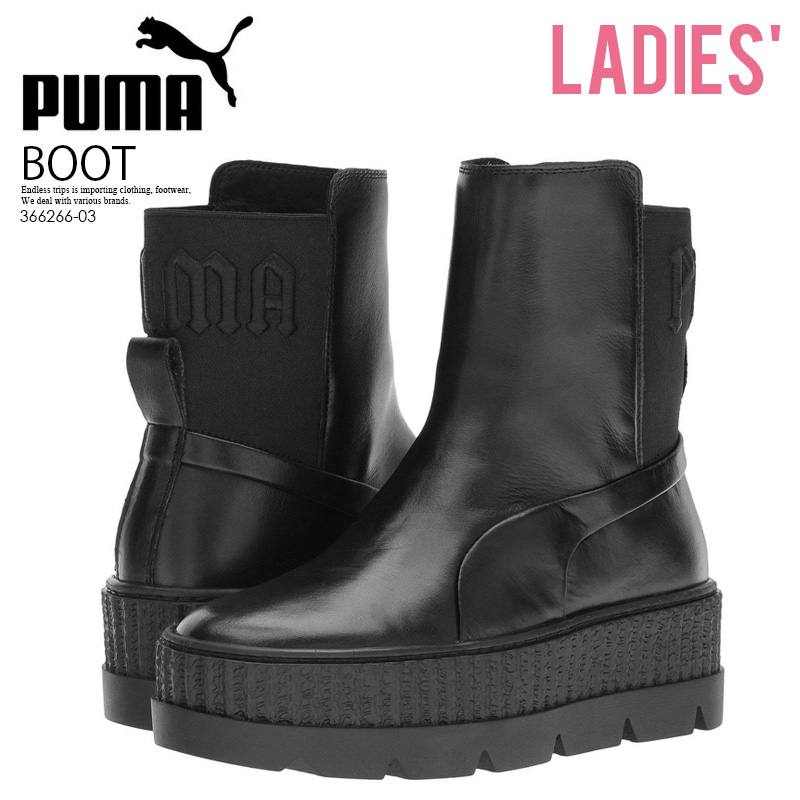 buy popular 4d0f0 3dc74 PUMA (Puma) FENTY BY Rihanna CHELSEA SNEAKER BOOT WOMENS  (フェンティバイリアーナチェルシースニーカーブーツ) leather PUMA BLACK (black) 366,266-03 ENDLESS  TRIP ENDLESSTRIP end ...