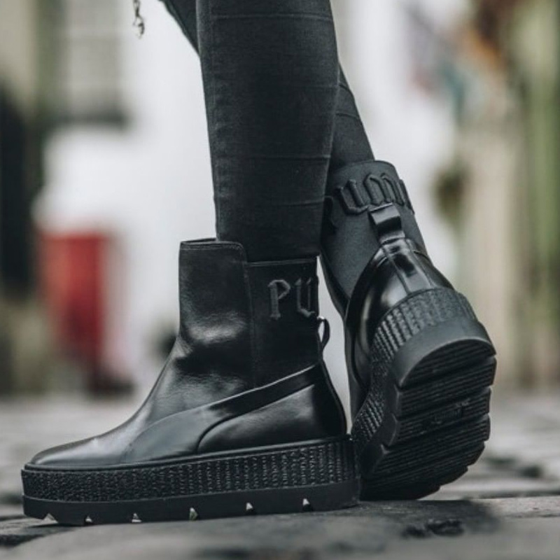 buy popular 0b818 95227 PUMA (Puma) FENTY BY Rihanna CHELSEA SNEAKER BOOT WOMENS  (フェンティバイリアーナチェルシースニーカーブーツ) leather PUMA BLACK (black) 366,266-03 ENDLESS  TRIP ENDLESSTRIP end ...