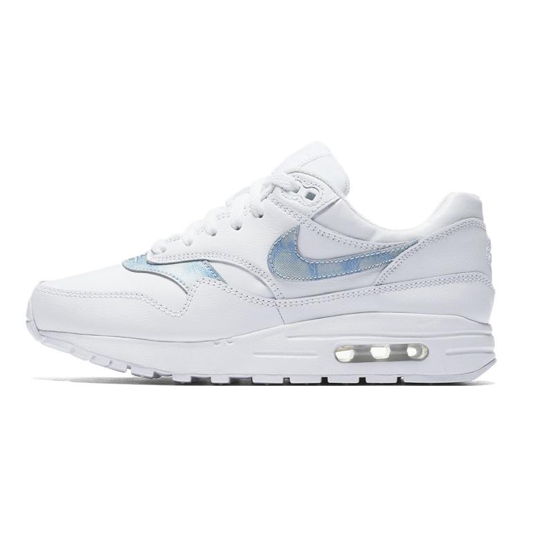 NIKE (Nike) AIR MAX 1 (GS) (Air Max 1) women sneakers shoes WHITEROYAL TINT WHITE (white blue) 807602 106 ENDLESS TRI