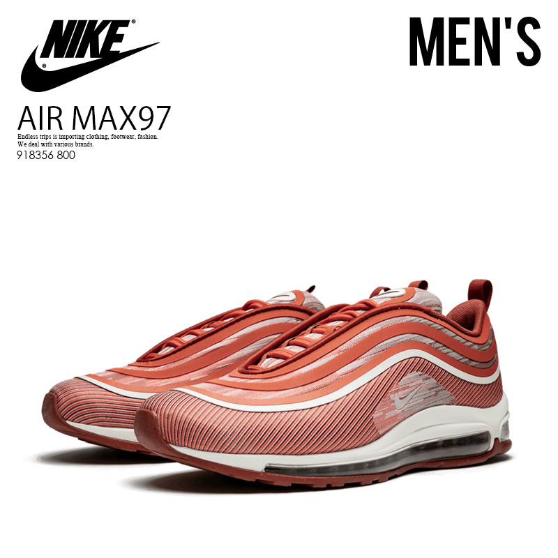 NIKE (Nike) AIR MAX 97 ULTRA 17 (Air Max 97 ultra 17) men's sneakers VINTAGE CORALSAIL MARS STONE (Coral orange) 918356 800 ENDLESS TRIP