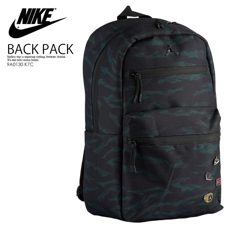 4731951d6 NIKE (Nike) JORDAN PIN BACKPACK (Jordan pin backpack) men's lady's day pack  rucksack BLACK/OLIVE TIGER CAMO (black / olive tiger duck) camouflage ...