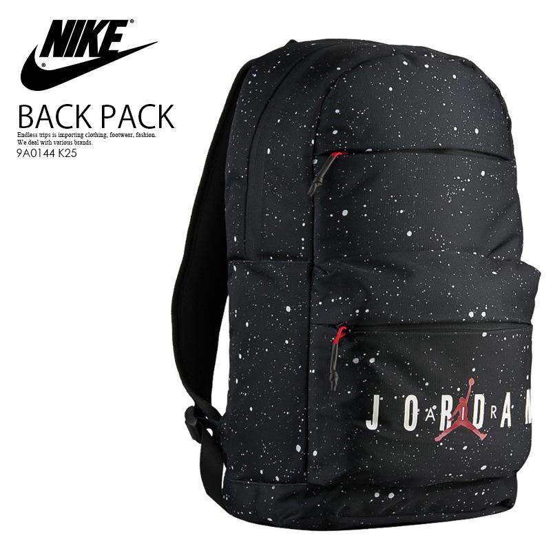 NIKE (Nike) JORDAN AIR JORDAN BACKPACK (Jordan Air Jordan backpack) men s  lady s day pack rucksack BLACK WHITE (black   white) 9A0144 K25 ENDLESS  TRIP ...