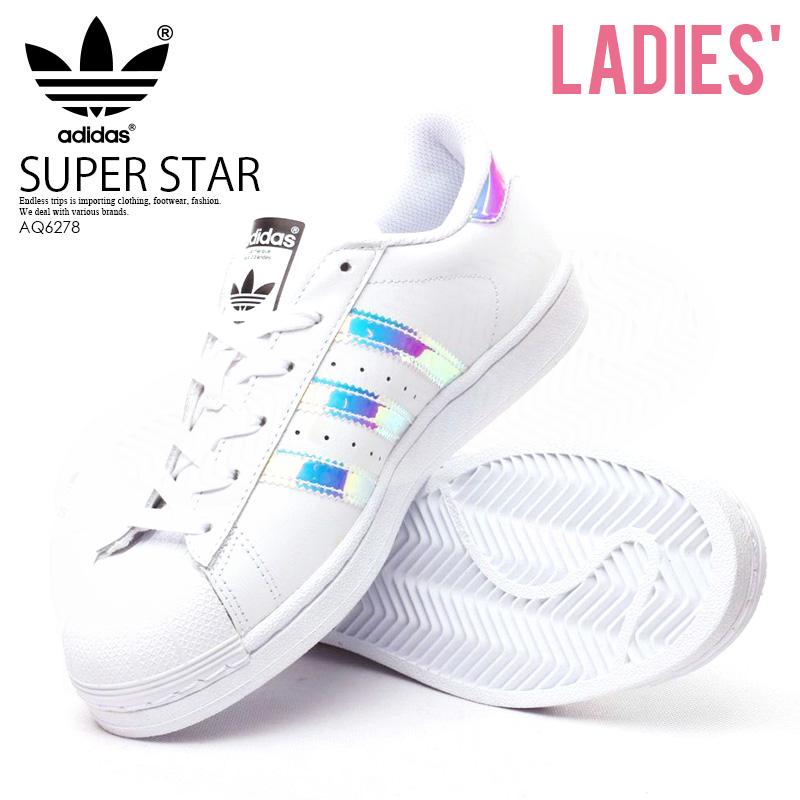 【希少!】【レディースサイズ】 adidas ORIGINALS(アディダス) SUPERSTAR J (スーパースター) レディース シューズ スニーカー FTWWHT/FTWWHT/METSIL(ホワイト/メタリックシルバー) (AQ6278)【外箱ダメージあり】 ENDLESS TRIP ENDLESSTRIP エンドレストリップ