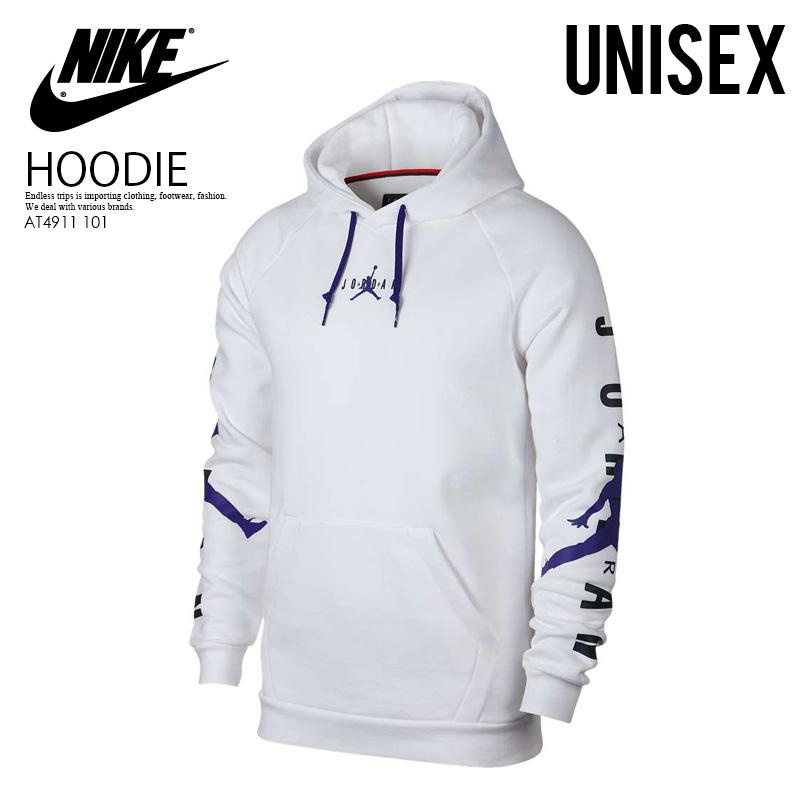 NIKE (Nike) JORDAN JUMPMAN AIR HBR PULLOVER HOODIE (ジョーダンジャンプマンプルオーバーフーディ) trainer parka tops men gap Dis sweat shirt WHITEGERMAIN BLUE (white