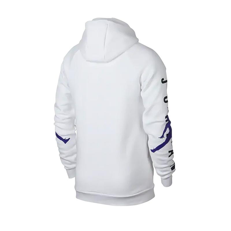 check out best website 50% price NIKE (Nike) JORDAN JUMPMAN AIR HBR PULLOVER HOODIE (ジョーダンジャンプマンプルオーバーフーディ)  trainer parka tops men gap Dis sweat shirt WHITE/GERMAIN BLUE (white / ...