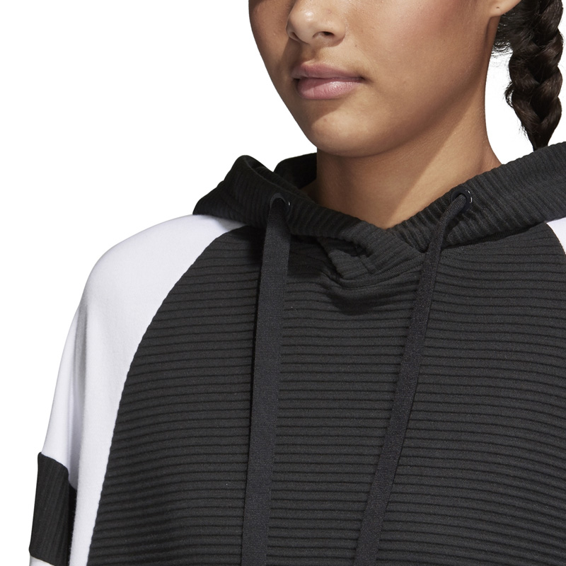 Rakuten size Thanksgiving Day! adidas (Adidas) WOMENS EQT HOODIE フーディーパーカープルオーバースウェットトップス BLACKWHITE (black white) CD6880 ENDLESS TRIP