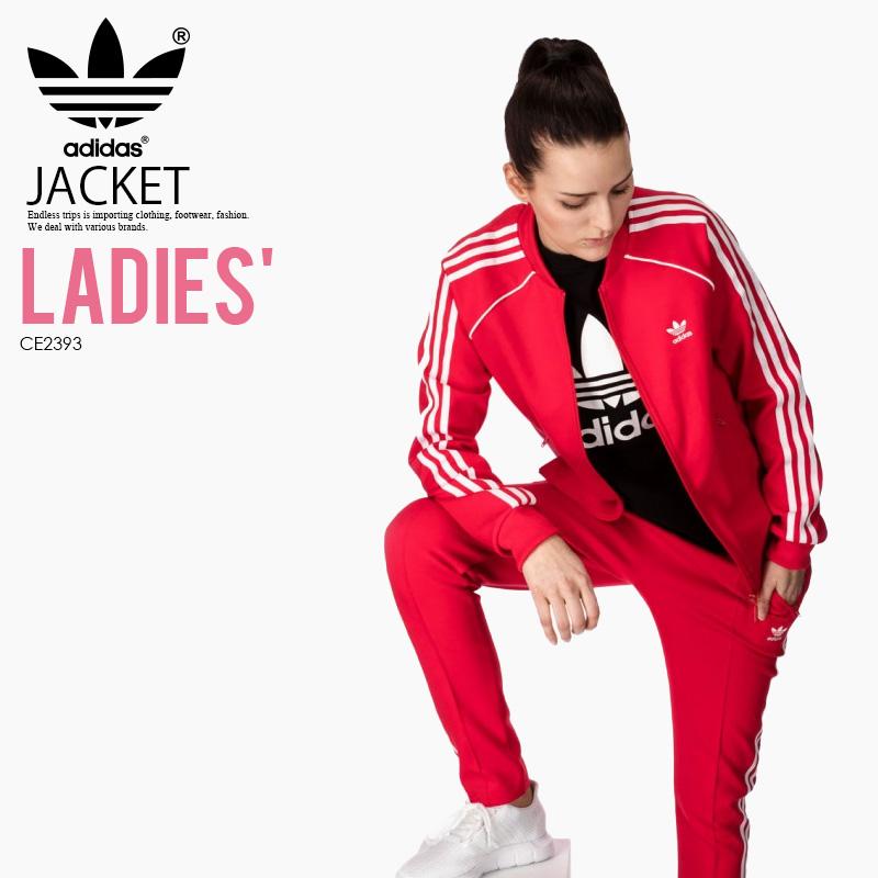 more photos 0bdf6 97c47 adidas (Adidas) WOMENS SUPERSTAR TRACK JACKET (the superstar truck top)  jersey truck top WOMENS women RADRED (red) CE2393 ENDLESS TRIP ENDLESSTRIP  end ...