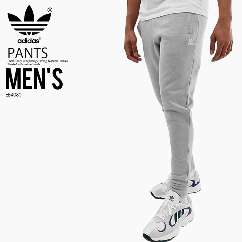 9f86ede7e2 adidas (Adidas) TREFOIL PANTS (TREFOIL PANT) (トレフォイルパンツ) MENS men underwear  skinny pants Kinney jersey jogger underwear MEDIUM GREY HEATHER (gray) ...