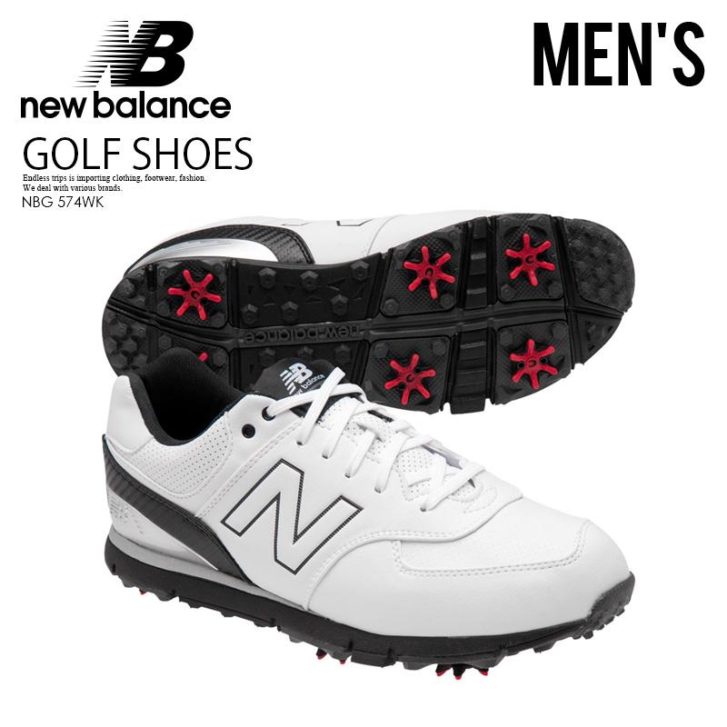 【希少!大人気!メンズ ゴルフシューズ】 NEW BALANCE (ニューバランス) NBG574 WHITE/BLACK GOLF SHOES ゴルフ シューズ WHITE/BLACK (ホワイト/ブラック) NBG574WK (NBG574 WHITE/BLACK) ENDLESS TRIP ENDLESSTRIP エンドレストリップ