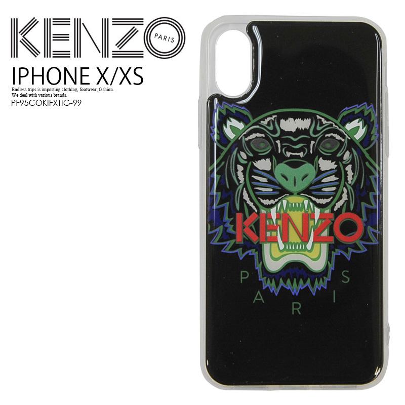 【日本未入荷! 希少!】 KENZO(ケンゾー) IPHONE X/XS TIGER CASE (タイガー iphone X/XS ケース) iphoneケース スマホケース アイフォンX アイフォンXS iPhone X XS BLACK (ブラック) PF95COKIFXTIG-99 ENDLESS TRIP ENDLESSTRIP