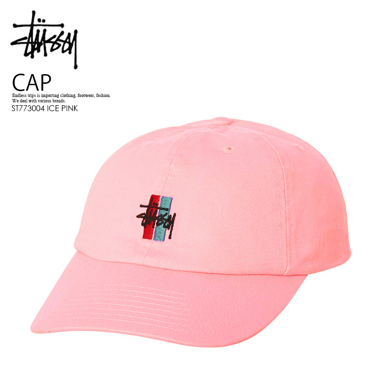 c28b2c82797 STUSSY (ステューシー) BARS LOGO LO PRO STRAPBACK CAP (Byrds logo pro snapback cap)  unisex men gap Dis hat ICE PINK (ice pink) ST773004 ICE PINK ENDLESS TRIP  ...