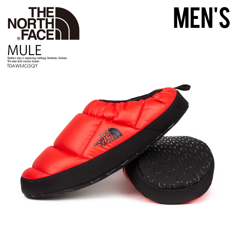 696ac7e6f THE NORTH FACE (the North Face) MEN'S NSE TENT MULE III SLIPPERS (tent mule  slippers) quilting slip-on slip-ons SHTNFRED/TNFBLK red black T0AWMG5QY ...