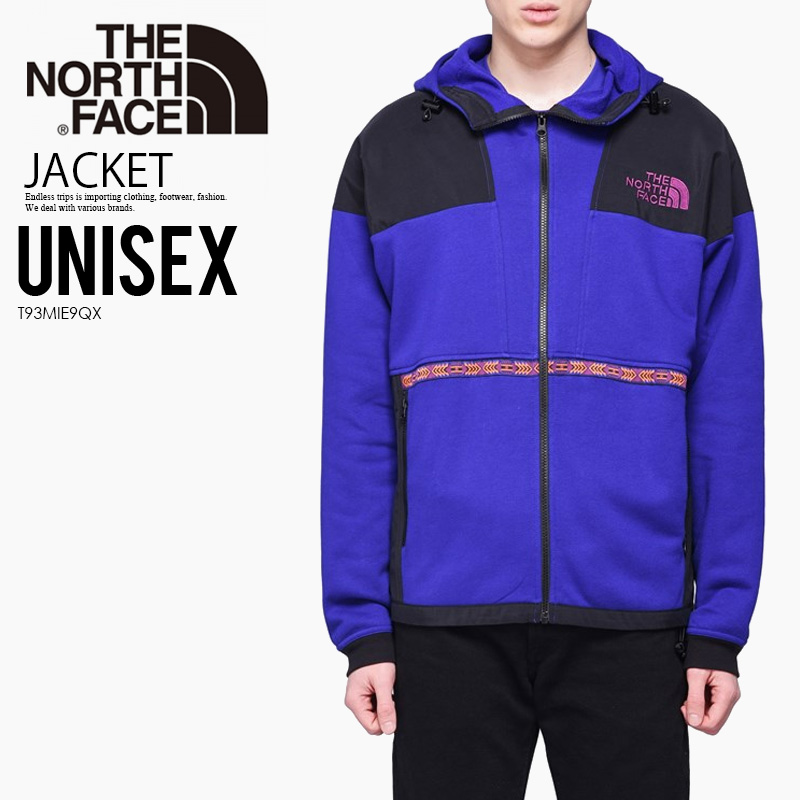 9e1534f8b THE NORTH FACE (North Face) '92 RAGE FLEECE HOODIE (レイジフリースフーディ) men's  lady's parka outer AZTEC BLUE RAGE COMBO (blue) T93MIE9QX