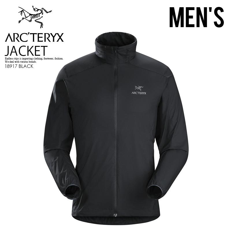 【希少! 大人気! メンズ ジャケット】 ARC'TERYX (アークテリクス) NODIN JACKET MEN'S (ノディン ジャケット メンズ) 登山 アウトドア レインウエア アウター 黒 (ブラック) 18917 アスレジャー スポーツミックス ENDLESS TRIP