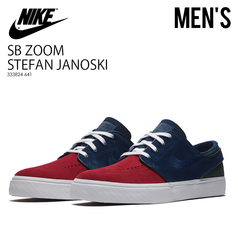 huge selection of e9dff 5b45e NIKE (Nike) NIKE SB ZOOM STEFAN JANOSKI (ズームステファンジャノスキー) sneakers suede  collaboration RED CRUSH BLUE VOID-WHITE (red   blue) 333824 641 ...