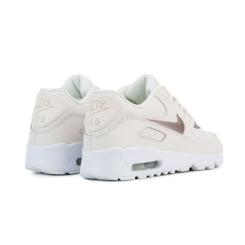 NIKE (Nike) AIR MAX 90 LEATHER (GS) (Air Max 90 leather) WOMENS women sneakers PHANTOMMTLC RED BRONZE WHITE (phantom bronze) 833376 014 ENDLESS
