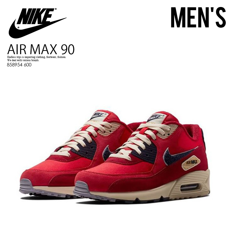 ad0c95ececc9f NIKE (Nike) AIR MAX 90 PREMIUM SE (Air Max 90 premium) sneakers UNIVERSITY  RED/PROVENCE PURPLE (red / purple) 858954 600 ENDLESS TRIP ENDLESSTRIP end  ...