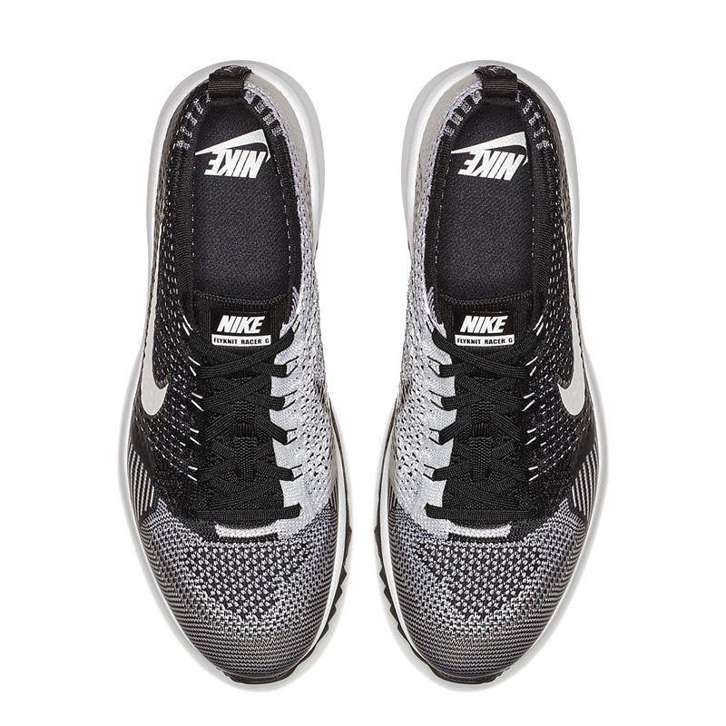 d04e86fb38a4 NIKE (Nike) FLYKNIT RACER G (fried food knit racer) men s golf shoes  BLACK WHITE (black   white) 909756 001 ENDLESS TRIP ENDLESSTRIP end rest lip