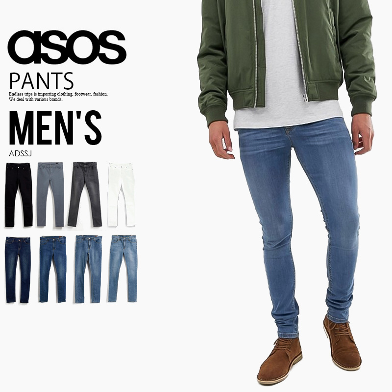 408aa7077511bb ASOS (エイソス) ASOS DESIGN SUPER SKINNY JEANS (design supermarkets Kinney jeans)  men's ...