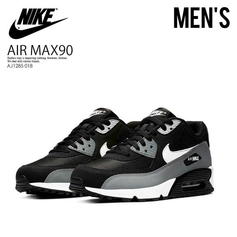 Rakuten size Thanksgiving Day! NIKE (Nike) AIR MAX 90 ESSENTIAL (Air Max 90 essential) sneakers BLACKWHITE COOL GREY (black gray) AJ1285 018