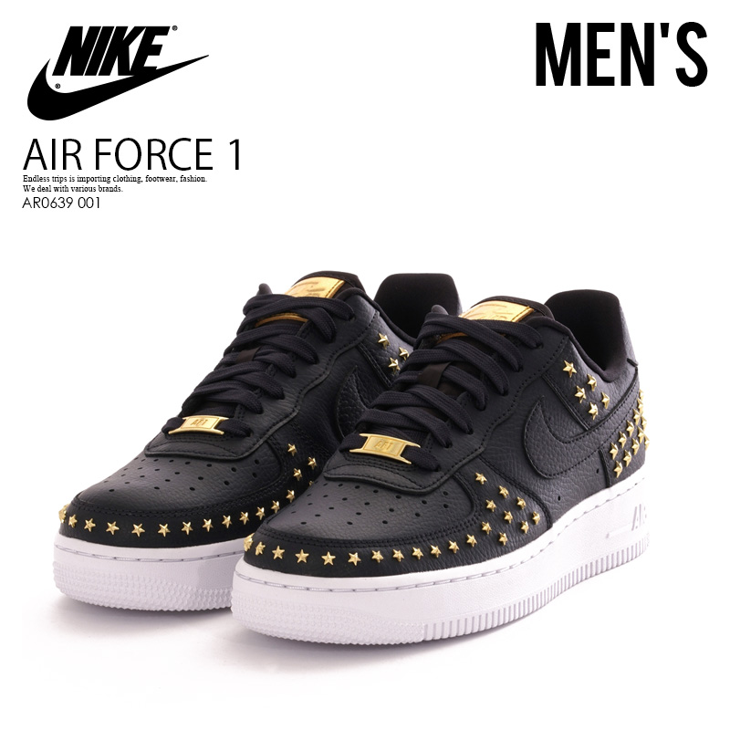 designer fashion faad7 c2320 NIKE (Nike) WMNS AIR FORCE 1  07 XX (air force 1) Lady s model sneakers OIL  GREY OIL-WHITE (gray white) black studs patterned stars AR0639 001  thick-soled ...