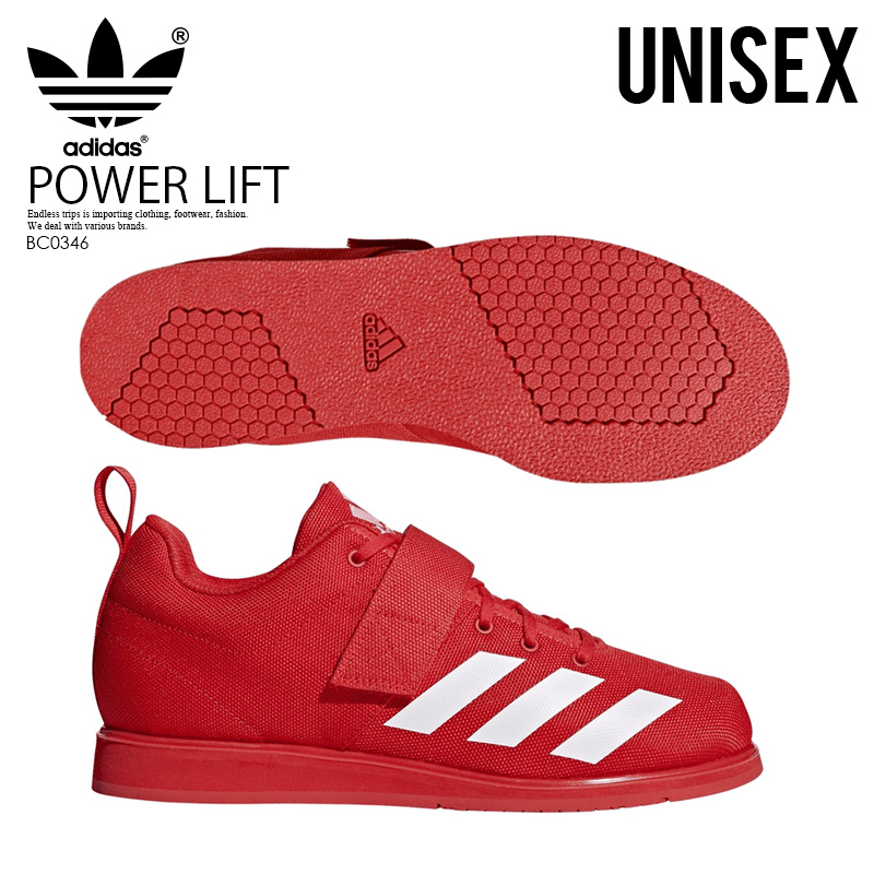 1cd118d92de3 adidas (Adidas) POWERLIFT 4 (power lift) men's lady's powerlifting  weightlifting weight lifting shoes RED (red) BC0346 ENDLESS TRIP