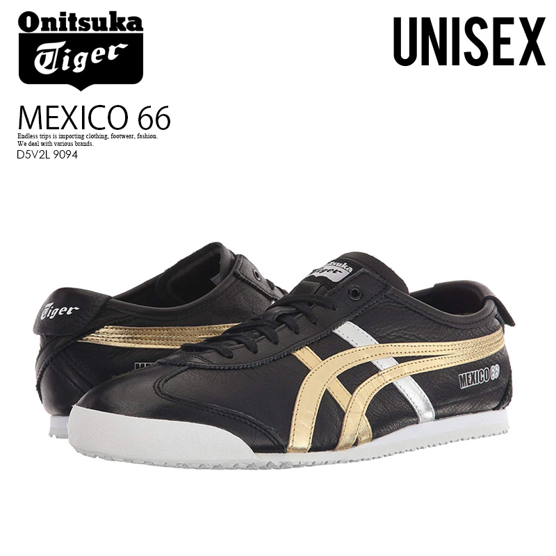 save off 9792d 036bf Onitsuka Tiger (Onitsuka tiger) MEXICO 66 (Mexican 66) BLACK/GOLD (black /  gold) Onitsuka tiger D5V2L 9094 ASICS ENDLESS TRIP ENDLESSTRIP end rest lip