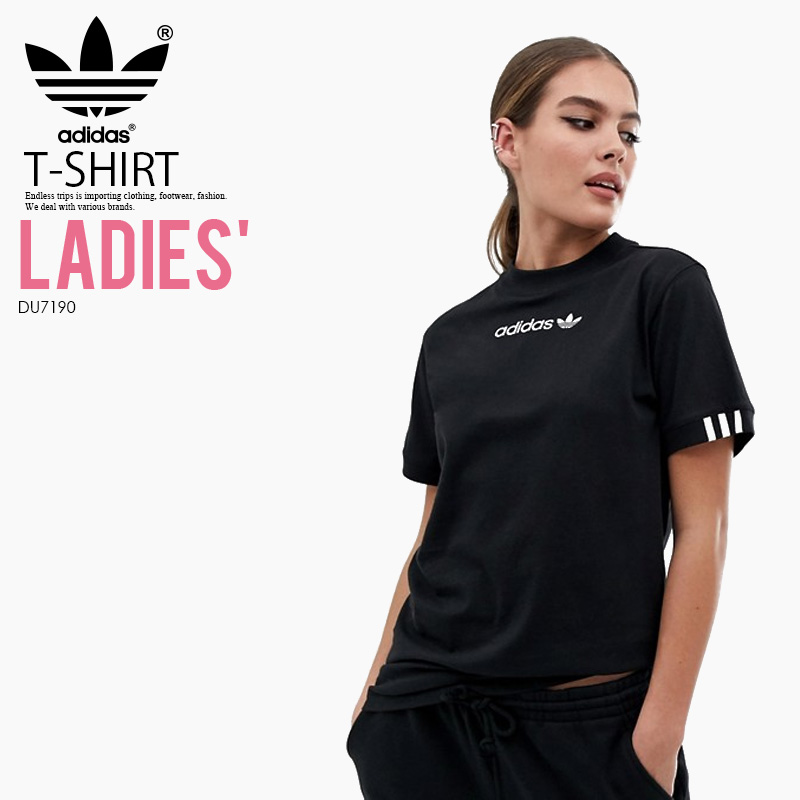 adidas (Adidas) WOMENS COEEZE TEE (co Eads T shirt) LADYS women T shirt short sleeves cut and sew tops BLACK (black) DU7190 ENDLESS TRIP  Schlussverkauf
