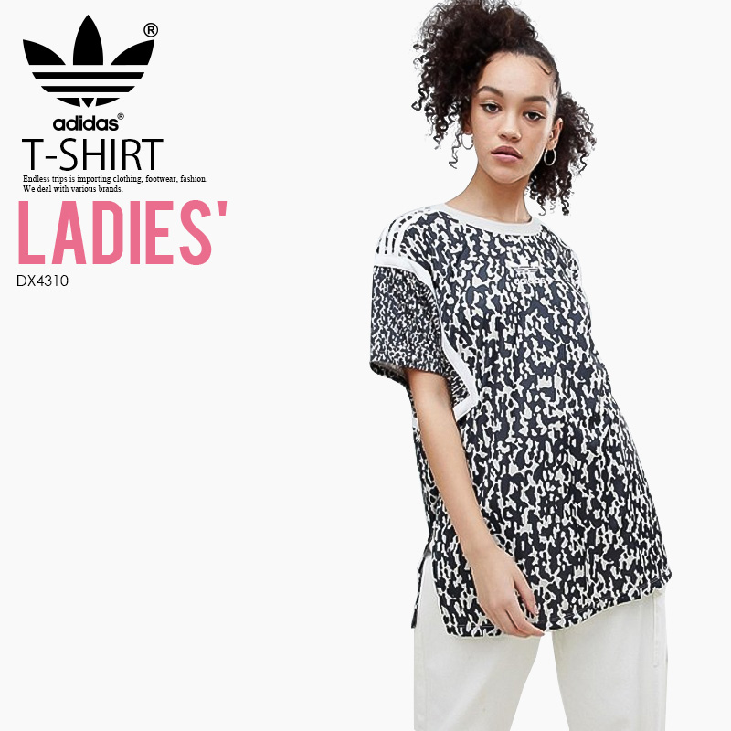 adidas (Adidas) WOMENS LEOFLAGE OVERSIZE TREFOIL TEE (レオフラージュオーバーサイズトレフォイル  T-shirt) LADYS women T-shirt short sleeves logo MULTICOLOR ... 756dcf031
