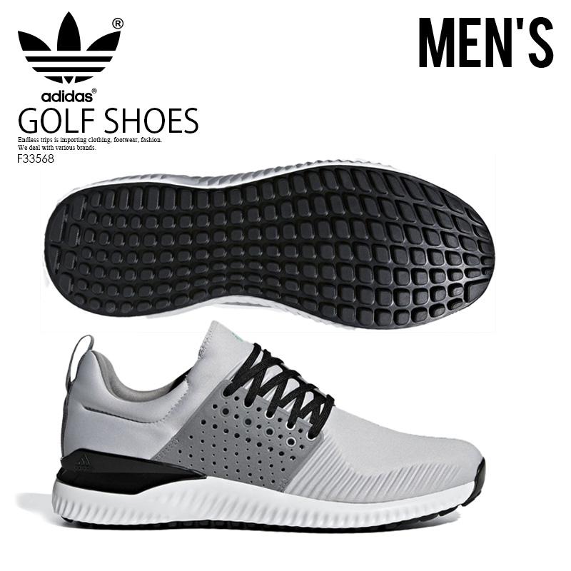 【日本未入荷!希少!メンズ ゴルフシューズ】 adidas (アディダス) ADICROSS BOUNCE (アディクロス バウンス) MENS GOLF SHOES スパイクレス LGSOGR/GRETHR/C黒 (グレー/ブラック) F33568 ENDLESS TRIP