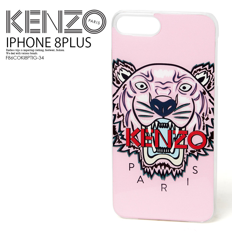 new concept a8156 e458e KENZO (Kenzo) IPHONE 8 PLUS TIGER CASE (tiger iphone 8plus case) iphone  case smartphone case eyephone 8 PLUS FADED PINK (pink) F86COKI8PTIG-34  ENDLESS ...