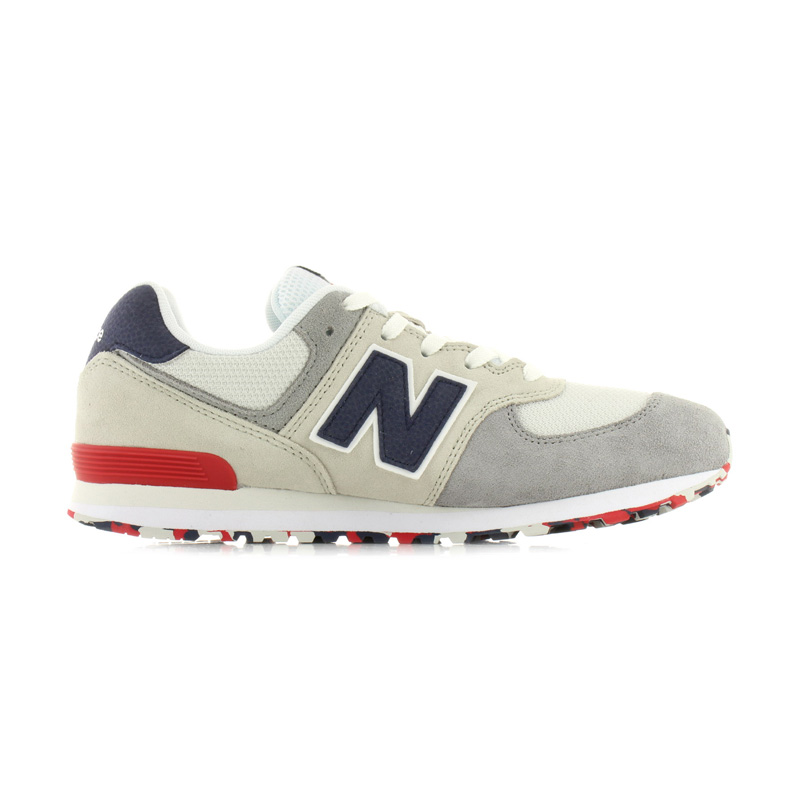 pretty nice 1c75b 5fe8d NEW BALANCE (New Balance) 574 SNEAKER kids model sneakers NIMBUS CLOUD/TEAM  RED (white / red) GC574UJD end rest lip ENDLESSTRIP