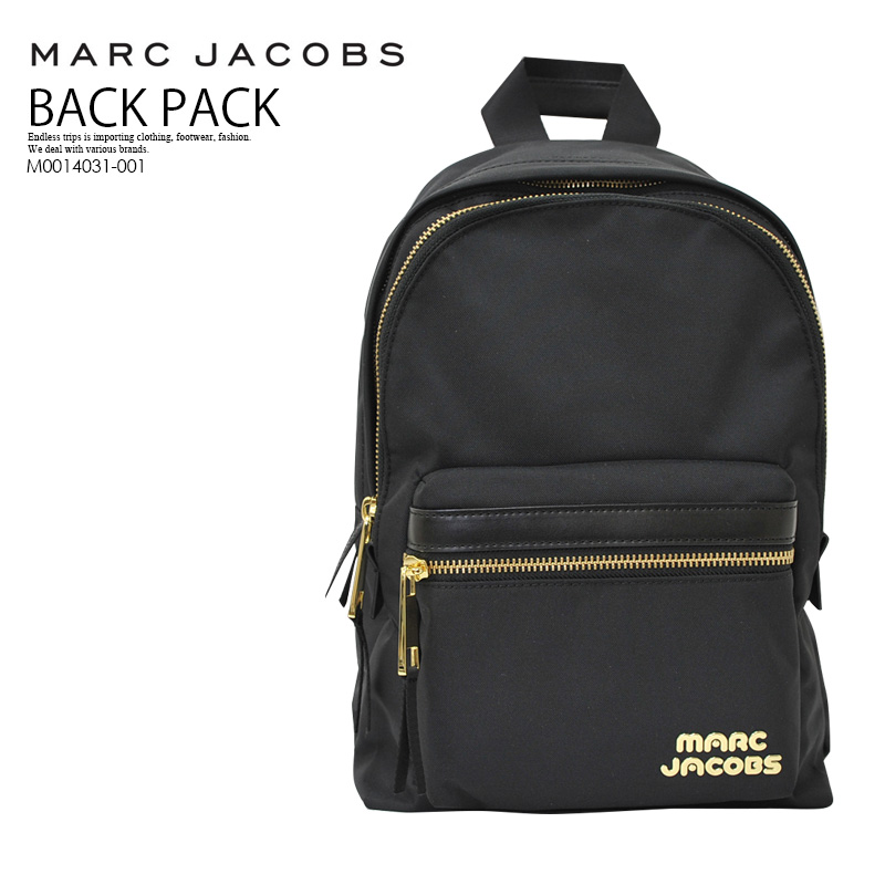 【希少! 大人気!】 MARC JACOBS (マーク ジェイコブス) TREK PACK MEDIUM BACKPACK (トレック パック ミディアム バックバッグ) リュック デイバッグ BLACK (ブラック) M0014031-001 ENDLESS TRIP