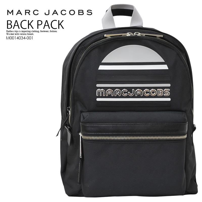 【希少! 大人気!】 MARC JACOBS (マーク ジェイコブス) TREK PACK LARGE LOGO BACKPACK (トレック パック ラージ ロゴ バックバッグ) リュック デイバッグ BLACK (ブラック) M0014034-001 ENDLESS TRIP