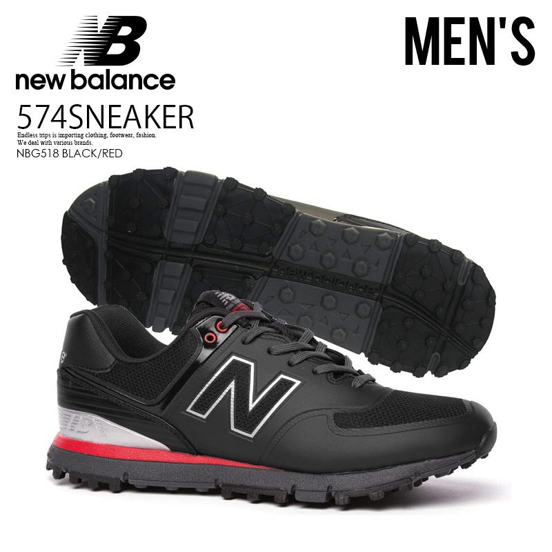 【大人気!希少! メンズ モデル】 NEW BALANCE(ニューバランス)NBG518 GOLF SHOES MENS ゴルフシューズ スパイクレス BLACK/RED (ブラック/レッド) NBG518 BLACK/RED ENDLESS TRIP ENDLESSTRIP エンドレストリップ